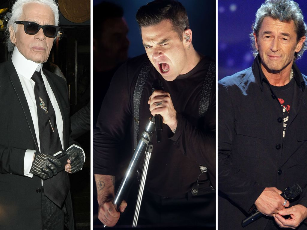 Robbie Williams, Karl Lagerfeld und Peter Maffay