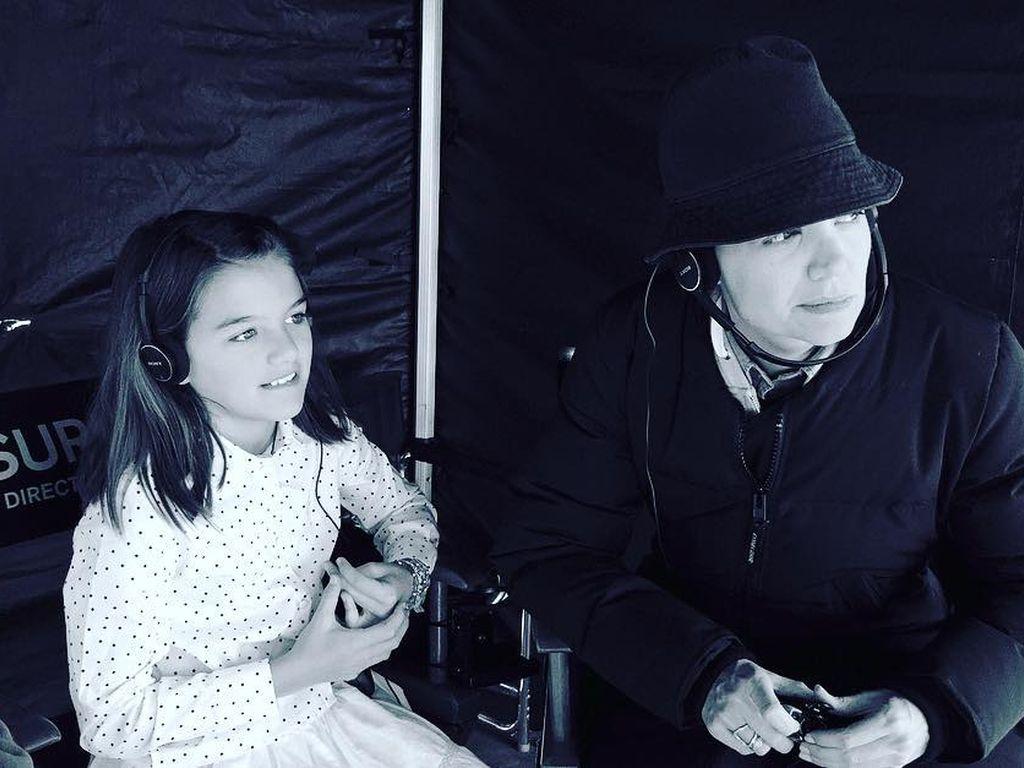 Katie Holmes und Tochter Suri Cruise am Filmset in Kanada