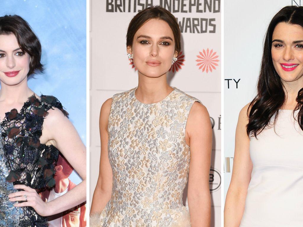Anne Hathaway, Keira Knightley und Rachel Weisz
