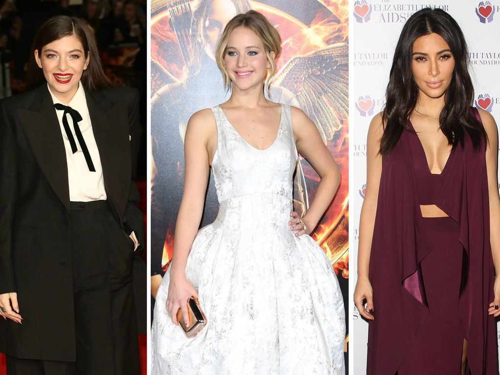 Kim Kardashian, Jennifer Lawrence und Lorde