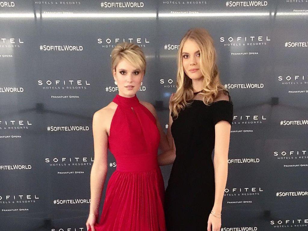 Kim Hnizdo und ihre Schwester Nina beim Deutschen Sportpresseball