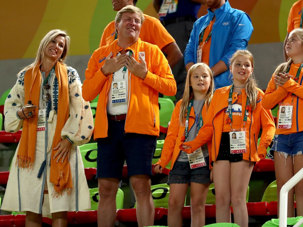 König Willem-Alexander mit Máxima und den drei Töchtern in Rio