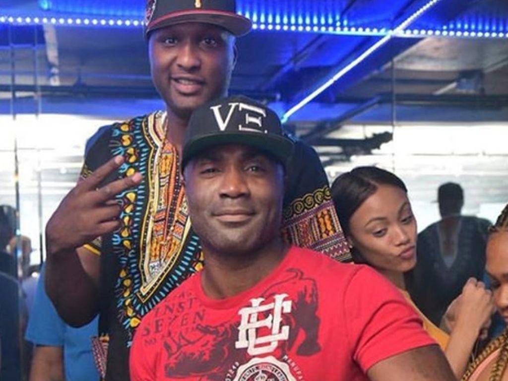 Lamar Odom mit dem Besitzer des Cityscapes Gentlemens Club