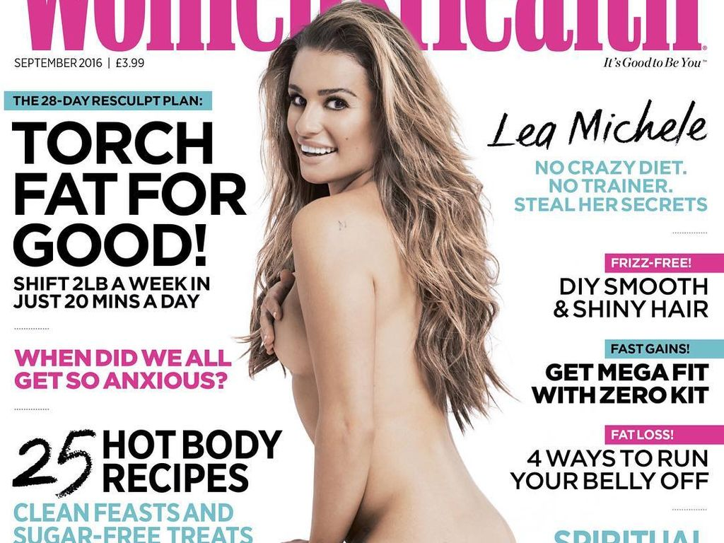 Lea Michele auf dem Cover der Women's Health UK (September 2016)