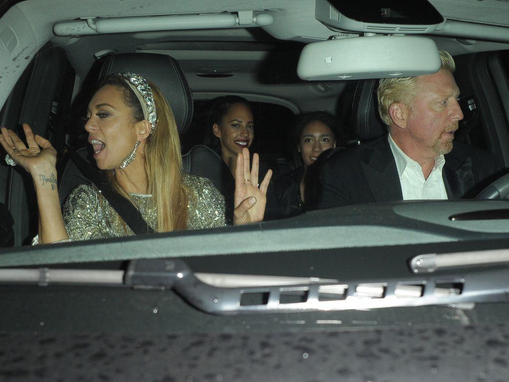 Lilly und Boris Becker im Auto