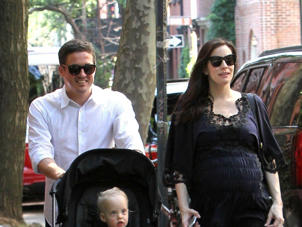 Liv Tyler mit David Gardner und Sohn Sailor Gardner in New York