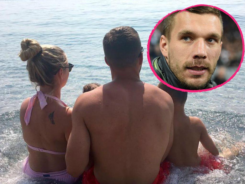 Lukas Podolski und Familie