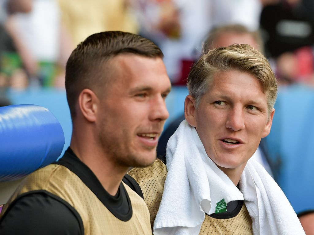Lukas Podolski und Bastian Schweinsteiger