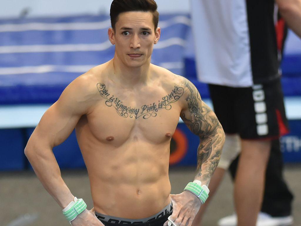 """Marcel Nguyen beim """"EnBW Gymnastics World Cup"""" in Stuttgart"""