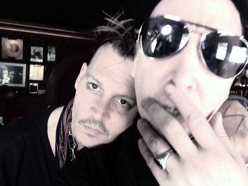 Schauspieler Johnny Depp und Rocksänger Marilyn Manson