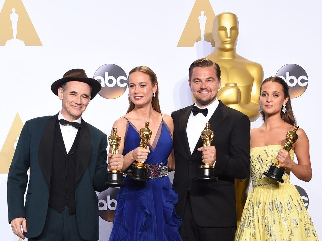 Leonardo DiCaprio, Alicia Vikander, Brie Larson und Mark Rylance