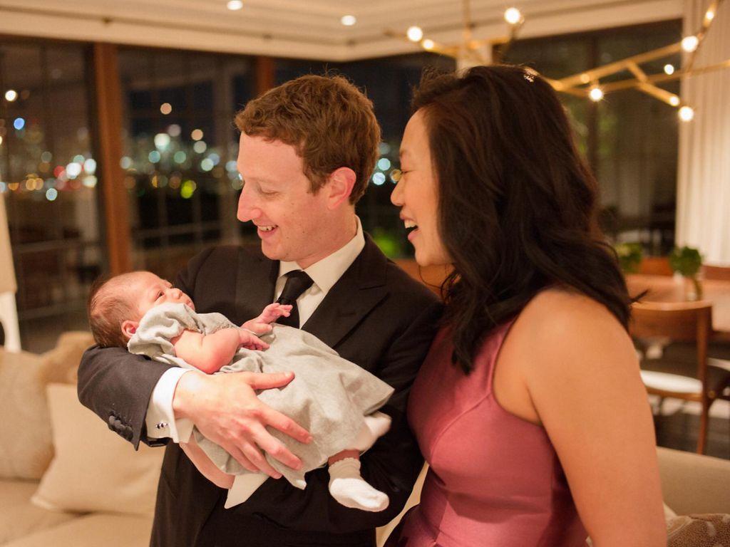 Mark Zuckerberg, Priscilla Chan und Max Zuckerberg