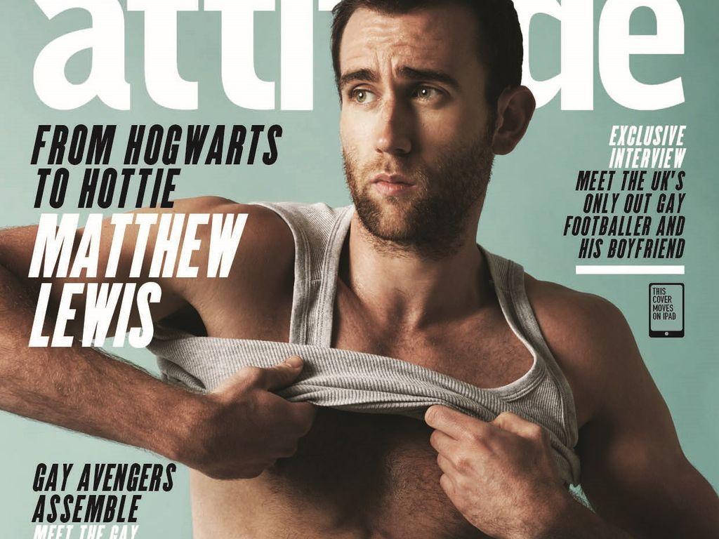 """Matthew Lewis auf dem """"Attitude""""-Cover"""