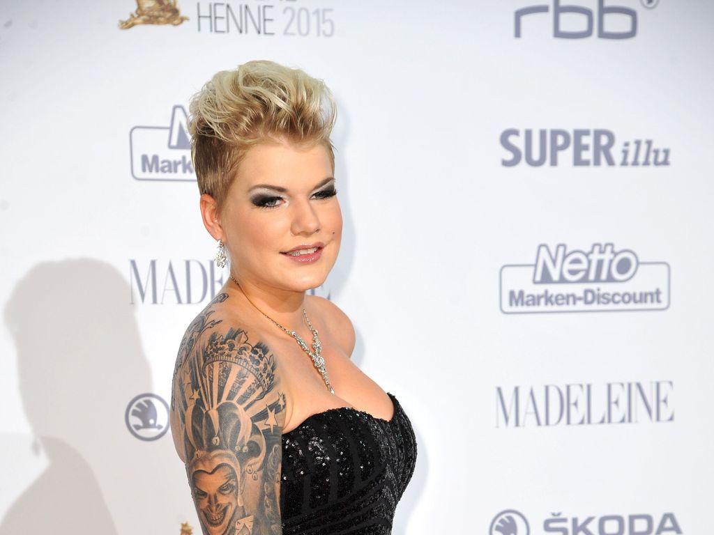 Melanie Müller bei der Goldenen Henne 2015