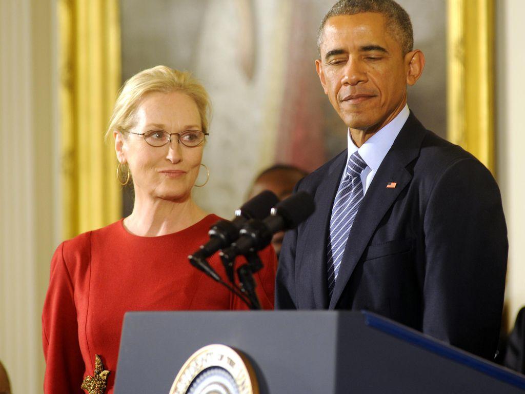 Barack Obama und Meryl Streep