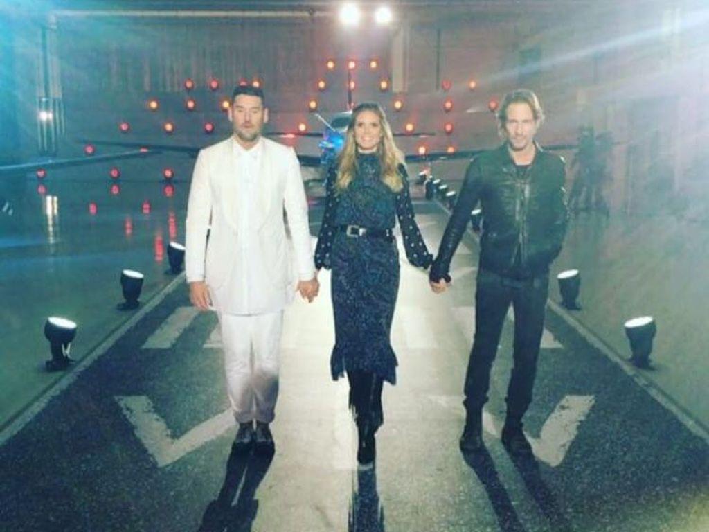 Michael Michalsky, Heidi Klum und Thomas Hayo in Kassel