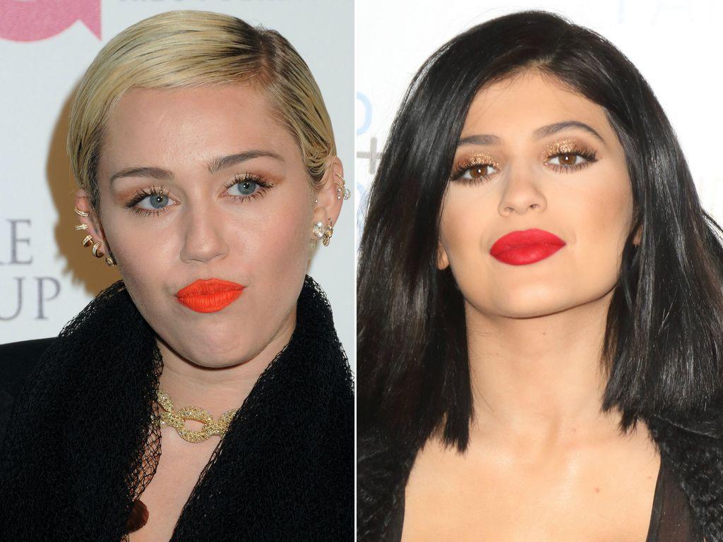 Kylie Jenner und Miley Cyrus