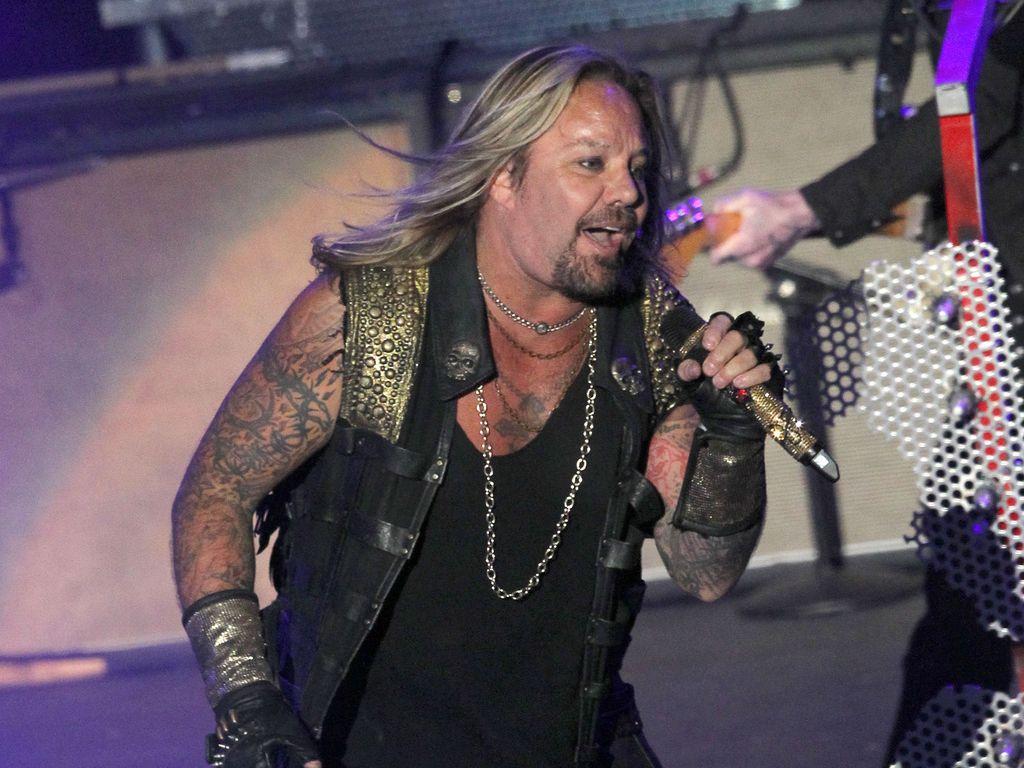 Mötley Crüe-Sänger Vince Neil während eines Auftritts in Los Angeles