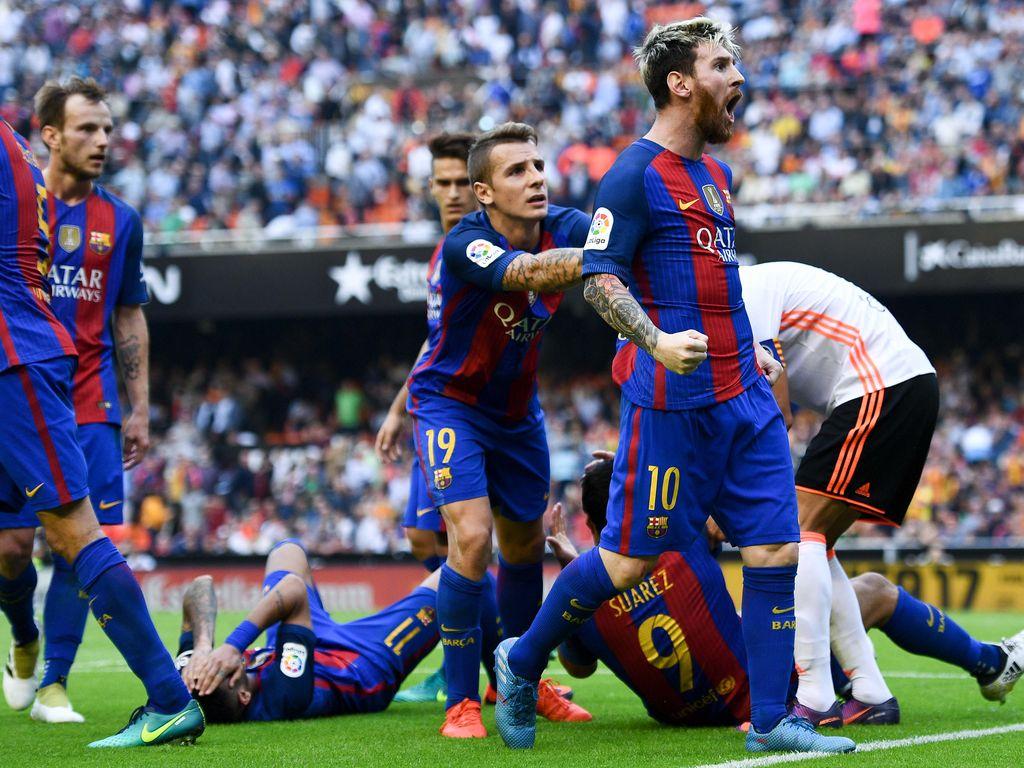 Die Barca-Spieler rund um Lionel Messi