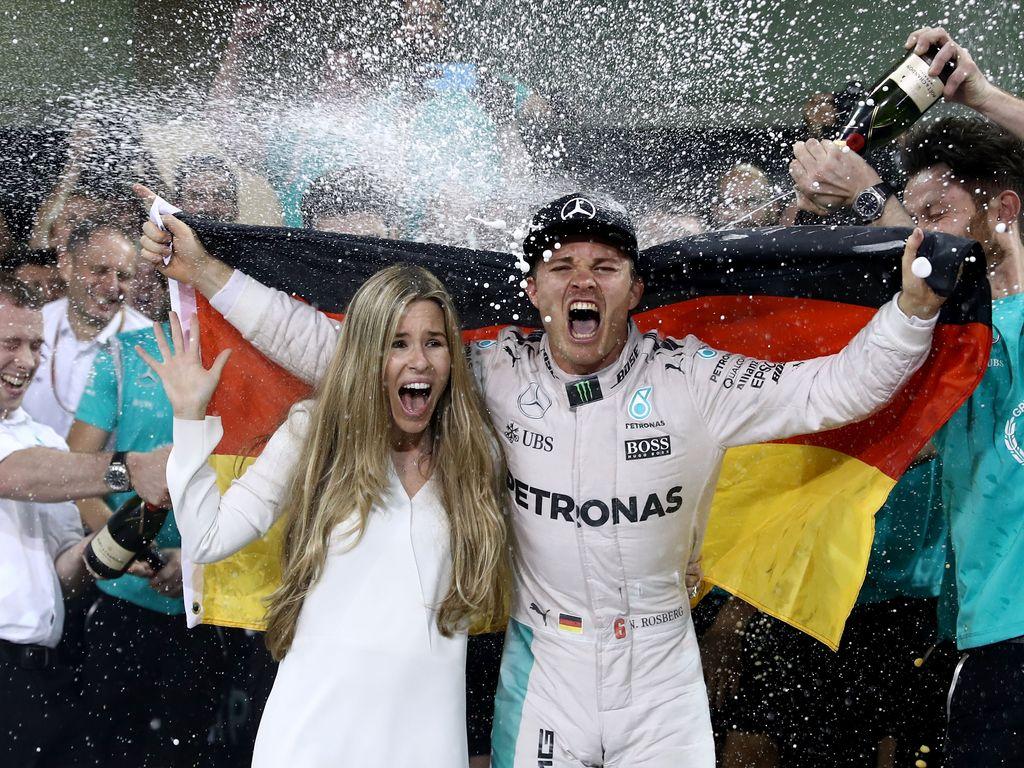 Nico Rosberg mit seiner Frau Vivian in Abu Dhabi