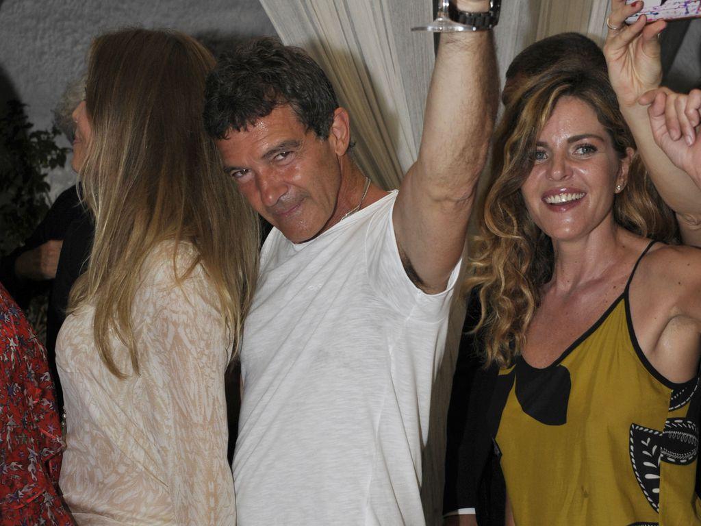 Nicole Kimpel und Antonio Banderas im Italien-Urlaub