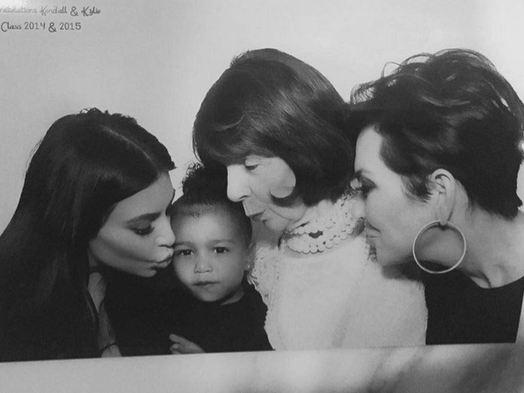 Kim Kardashian, North West und Kris Jenner