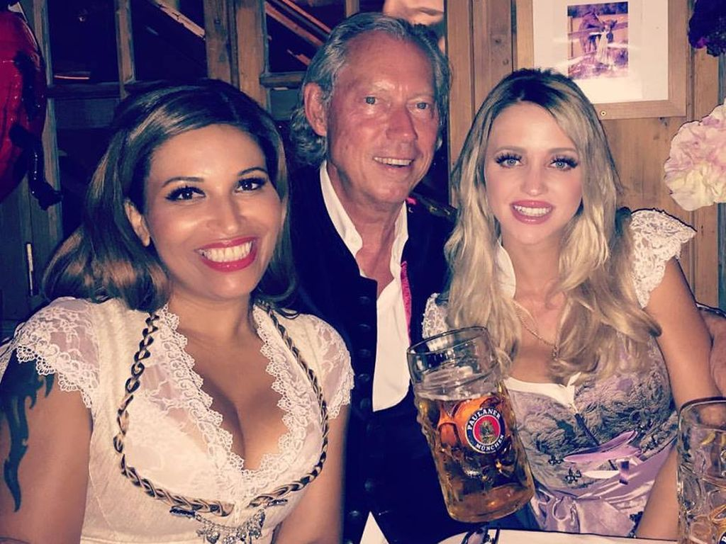 Patricia Blanco, Werner Mang und Cathy Lugner auf dem Oktoberfest