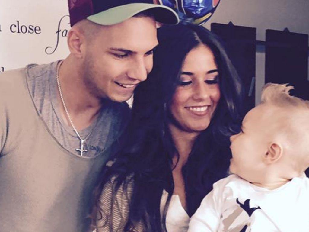 Pietro, Sarah und Alessio Lombardi an seinem 1. Geburtstag