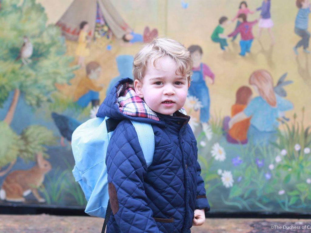 Prinz George an seinem ersten Kindergarten Tag