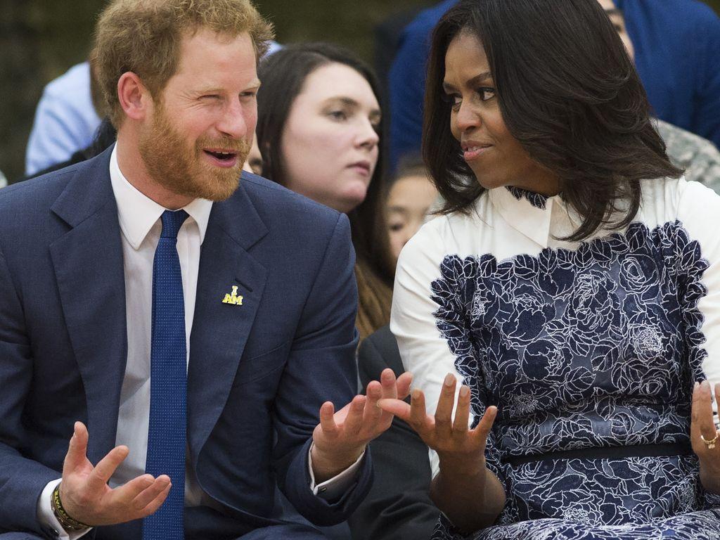 Prinz Harry und Michelle Obama
