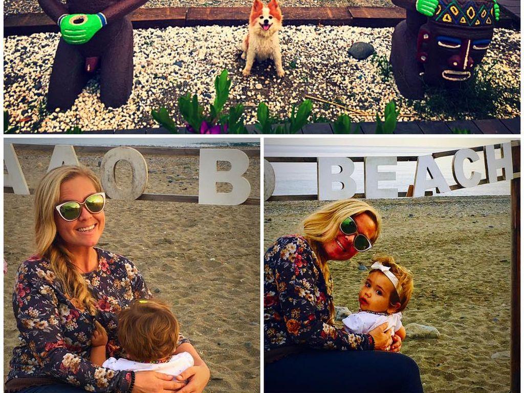 Rebecca Kratz mit ihrer Tochter Alaia-Claire