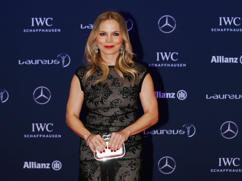 Regina Halmich auf einer Preisverleihung in Berlin