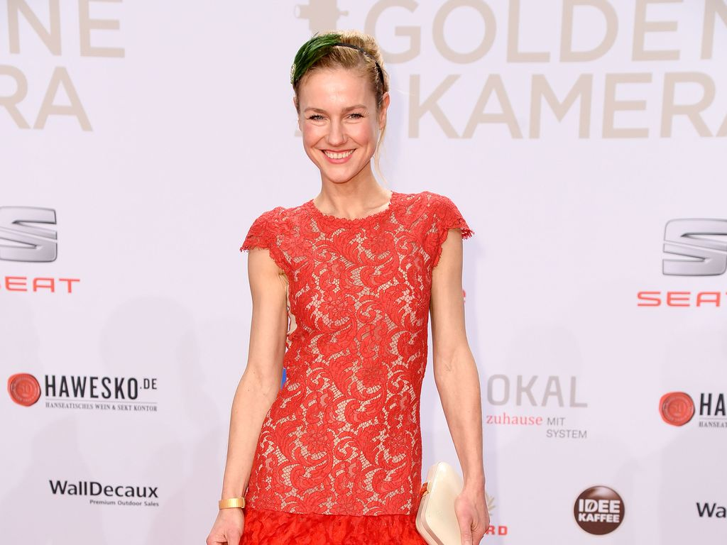 "Rhea Harder-Vennewald bei den ""Goldene Kamera""-Awards in Hamburg"