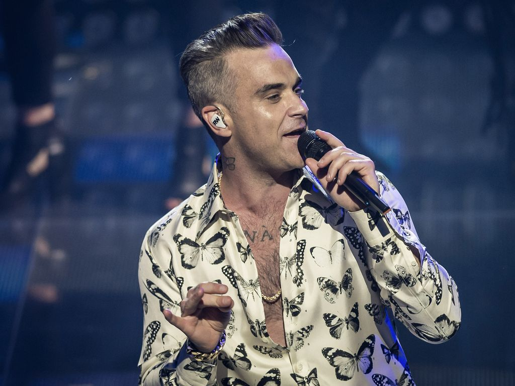 Robbie Williams bei einem Konzert in London 2016