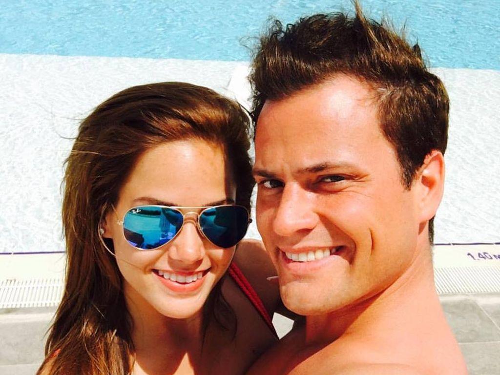 Angelina Heger und Rocco Stark in glücklichen Zeiten im Urlaub