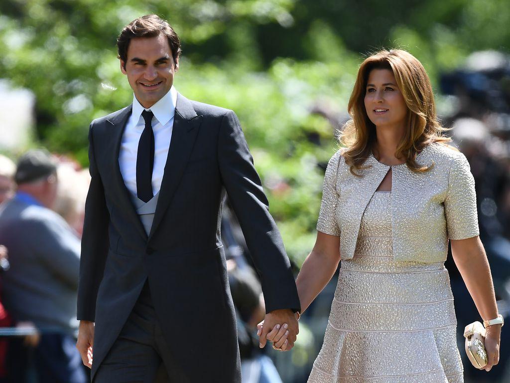 Roger und Mirka Federer bei der Hochzeit von Pippa Middleton