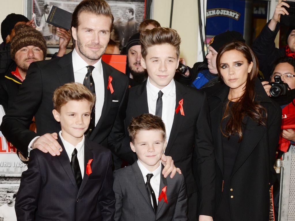 David Beckham, Victoria Beckham, Brooklyn Beckham, Romeo Beckham und Cruz Beckham