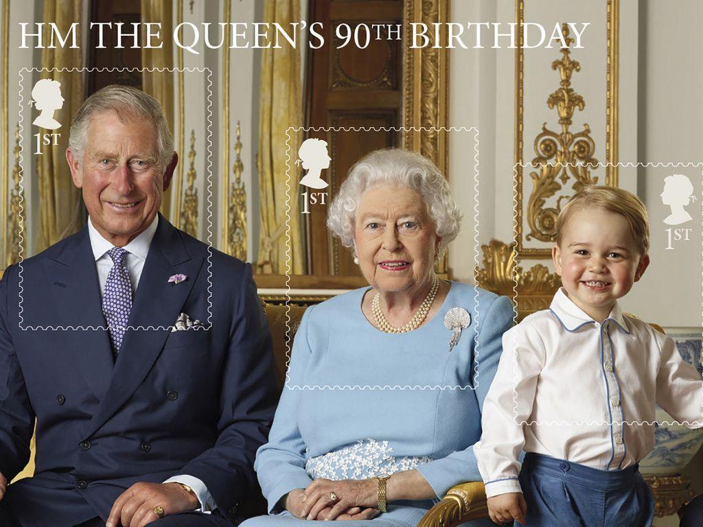 Queen Elizabeth II., Prinz William, Prinz George und Prinz Charles