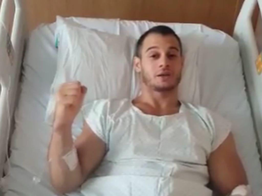 Samir Ait Said im Krankenhaus