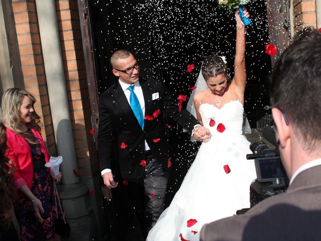 Pietro und Sarah Lombardi im März 2013 bei ihrer Hochzeit