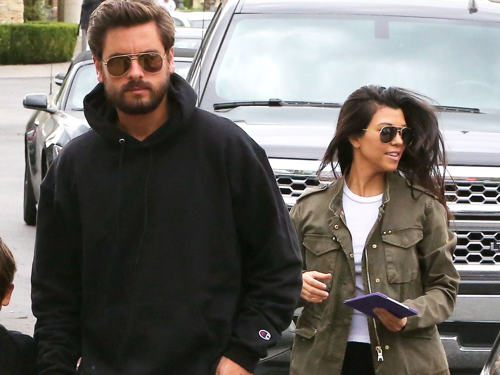 Scott Disick und Kourtney Kardashian in Calabasas