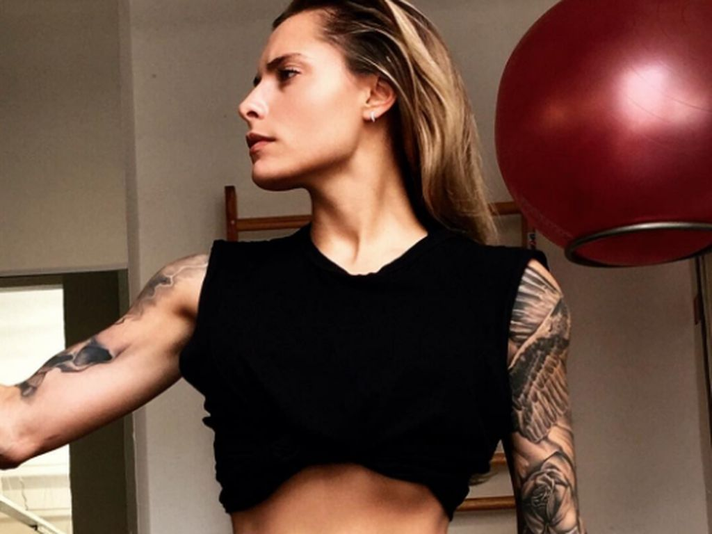 Sophia Thomalla im Fitness-Studio