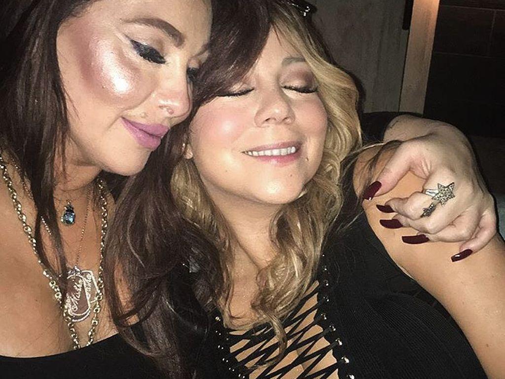 Managerin Stella Bulochnikov und Mariah Carey in Hollywood