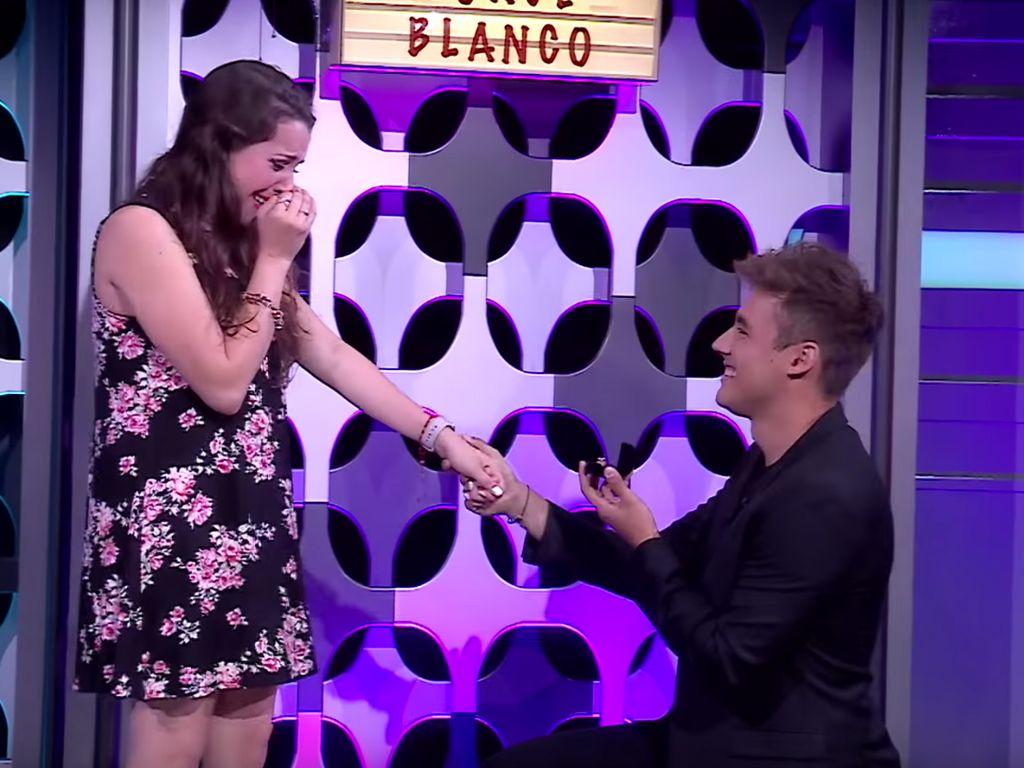 Stephie Caire und Jorge Blanco während ihrer Verlobung