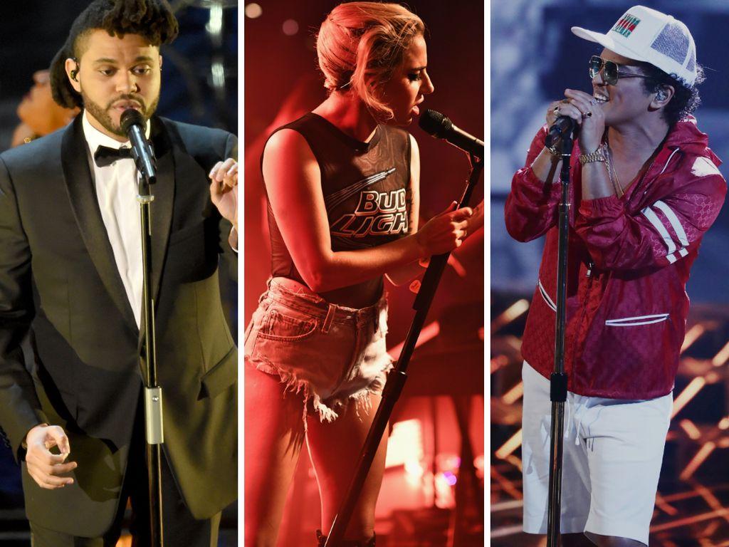The Weeknd, Lady GaGa und Bruno Mars