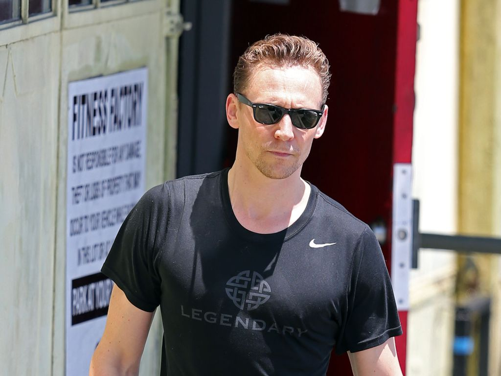 Tom Hiddleston beim Verlassen seines Fitnesstudios in West Hollywood