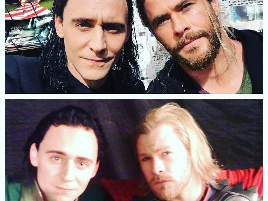 Tom Hiddleston und Chris Hemsworth als Loki und Thor 2011 und 2016