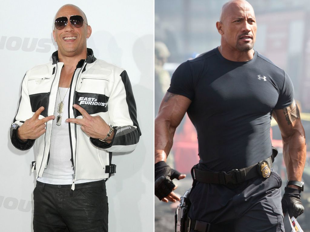 "Vin Diesel und Dwayne ""The Rock"" Johnson"