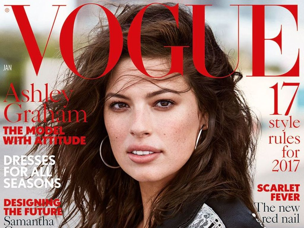 Ashley Graham auf dem Cover der Vogue