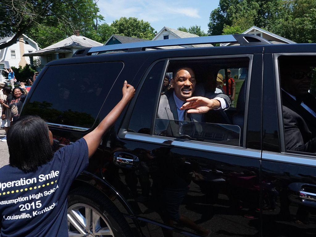 Will Smith bei der Beerdigung von Muhammad Ali